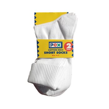Pex ankle socks twinpack (Adult shoe size 4-7)