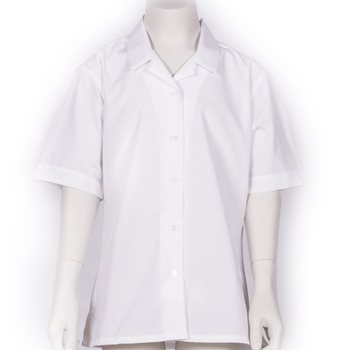 "Girls White Blouse (Size 20""-32"")"