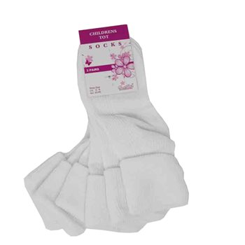 Ankle socks 3pr per pk (Child size 6-8)