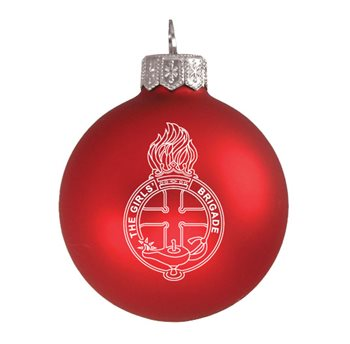 GB Red Christmas Bauble