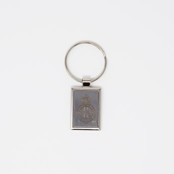Engraved Silver Keyring With Presentation Box