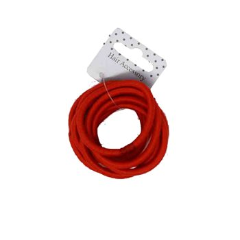 Red Hair Elastics (10 Pack)