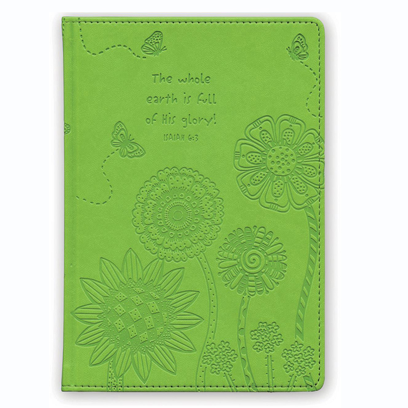 Faux Leather Journal - The whole earth is full of His glory