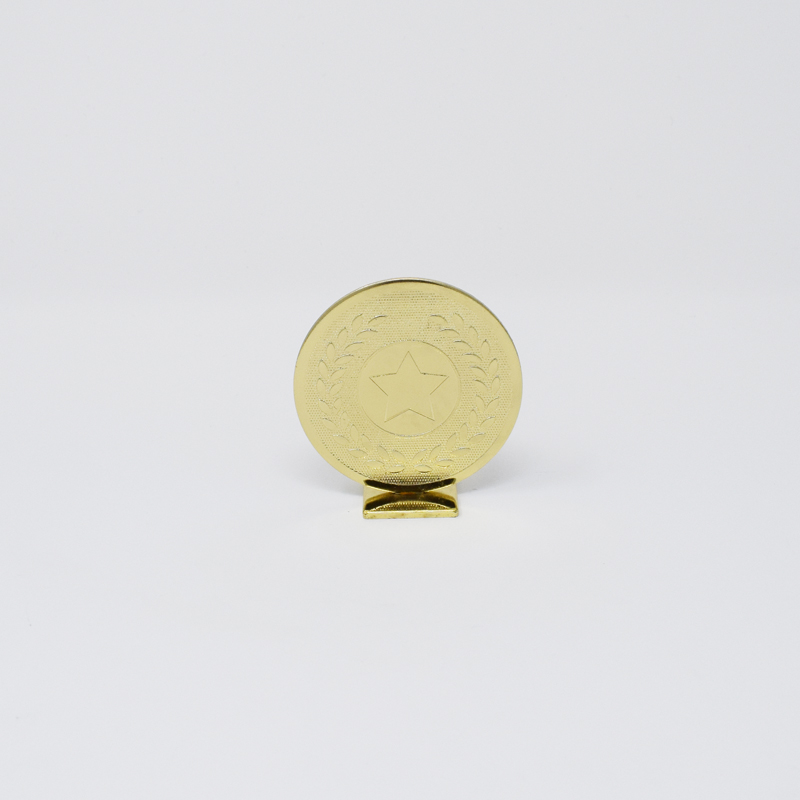 Small Round Gold Metal Trophy 6cm (GB00601)