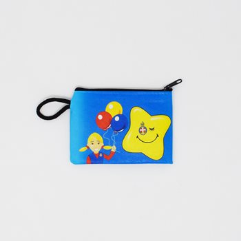 Blue Purse With Smiley