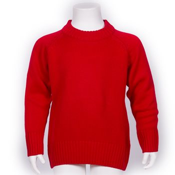 "Explorer Red Knitted Jumper (20""- 34"")"