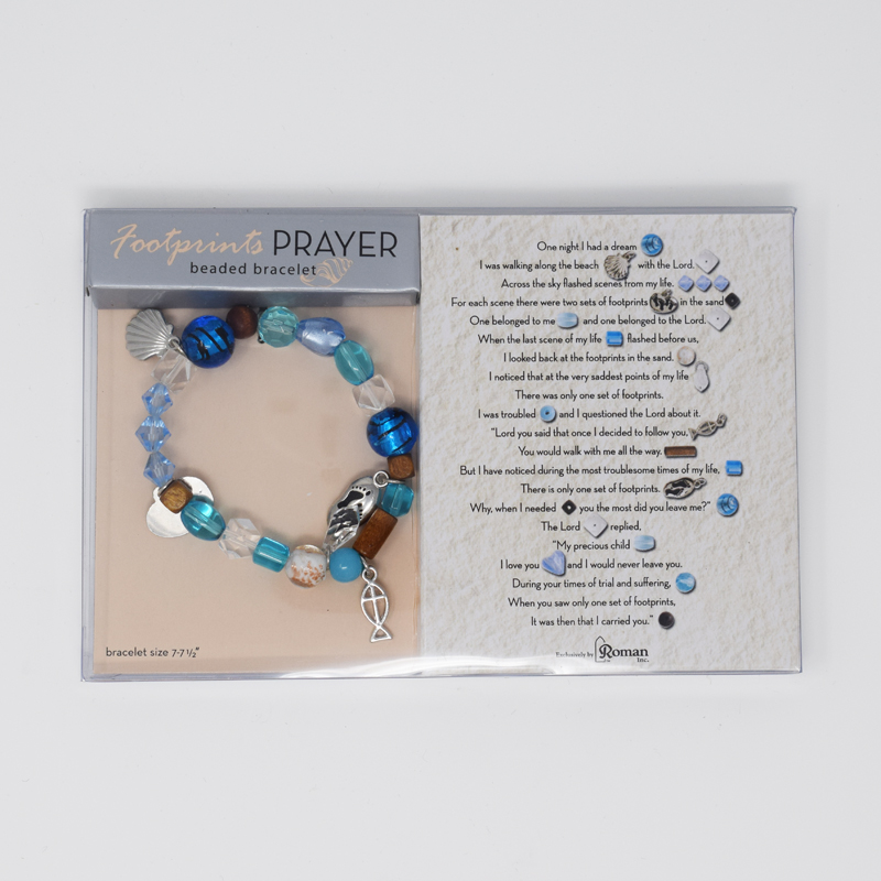 Footprints beaded bracelet